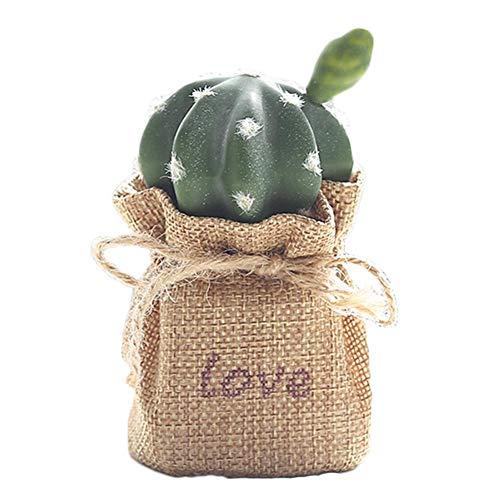 Outflower 1 pcs Simulation Plante Cactus en Pot décoration, Bureau intérieur Balcon Jardin extérieur Fleur décoration 6.5 * 11.5 CM