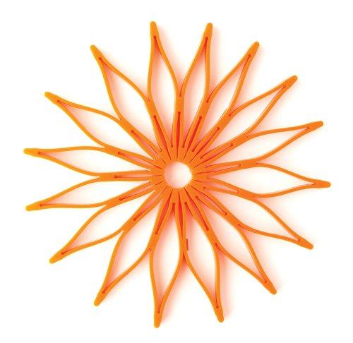Spice Ratchet 16814 Blossom Multi-Use Silicone Trivet, Orange (Orange Ratchet)