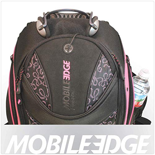 Mobile Edge Women's Express Laptop Backpack 16 Inch Pc, 17 Inch Mac Black with Pink Ribbons Students Mebpex1, One Size