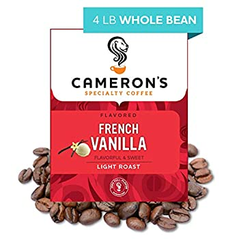 Cameron s Coffee Roasted Whole Bean Coffee Flavored French Vanilla 4 Pound