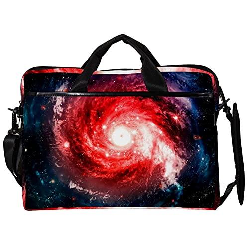 Bolsa protectora para ordenador portátil, portátil, bolsa de mensajero con correa de hombro desmontable Galaxy Space Nebulae para viajes, escuela, oficina de negocios de 15 x 11 x 1.2 pulgadas