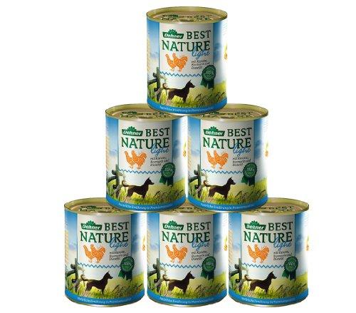 Dehner Best Nature - Comida para Perros Ligera de Pollo y Zanahoria con Aceite de Cardo