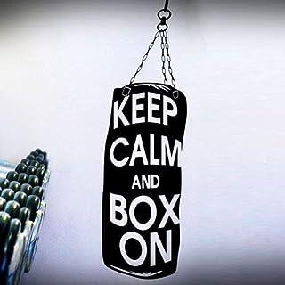 jiushizq Boxeo Mantenga la Calma y la Caja en el Papel de Vinilo removible Pegatinas de Pared para el Deporte Fitness Gym calcomanías Fashion Poster Cotizaciones Gris 42X140 cm