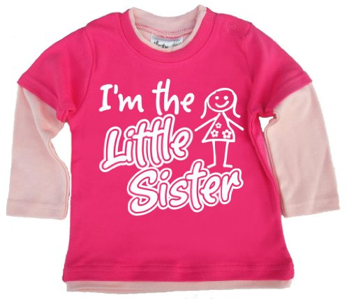 Dirty Fingers, I'm The Little Sister, Baby Patineuse Top - Rose - XS