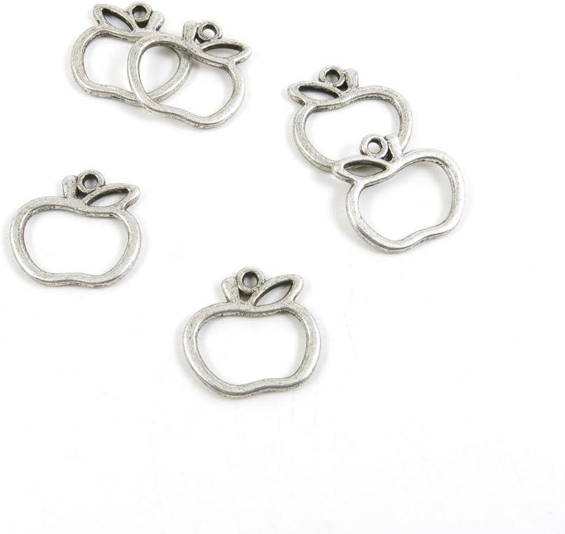 現金特価 注文後の変更キャンセル返品 460 Pieces Antique Silver Tone Jewelry B2QV1 Charms Apple Making