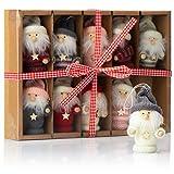 com-four® 10 Colgantes Premium de Santa Claus para el árbol de Navidad, Varios Colgantes de Figuras de árboles de Navidad como Adornos para árboles, Adornos navideños o Etiquetas de Regalo