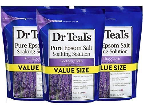 Dr Teal's Epsom Salt 3-Pack (21lbs Total) Lavender Soothe & Sleep