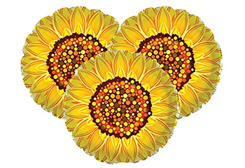 Set of 3 Yellow Sunflower 17' Foil Party Balloons