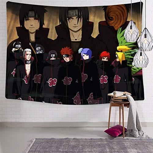 3354 Na-ru-to 5 Tapices para colgar en la pared, suaves y divertidos tapices para habitación de cama 133 x 21 cm