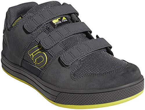 Five Ten Freerider VCS Kids Mountain Bike Shoes, Grey Six/Shock Yellow/Black, 11K