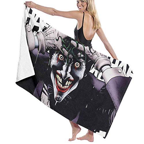 Ewtretr Toallas de baño Jokers Smile Large Soft Bed Toalla