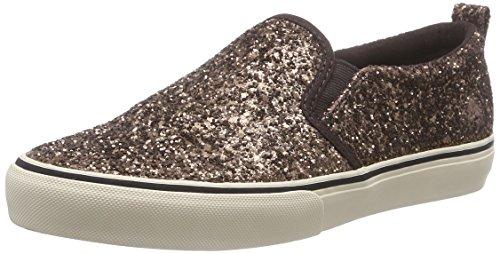 Polo Ralph Lauren Carlee Twin Gore - Zapatillas de casa de Cuero niña, Color marrón, Talla 38