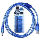 Quimat リレーモジュール USB対応 4チャネル 5V 継電器モジュール 余分な電源が不要 QY15