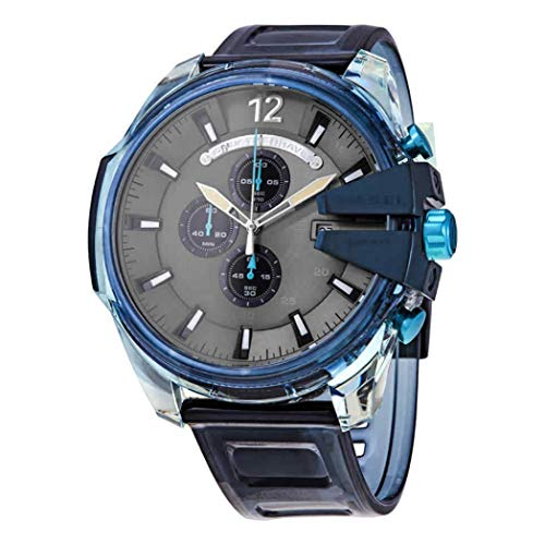 Diesel Herren Analog Quarz Uhr mit Polyurethan Armband DZ4487