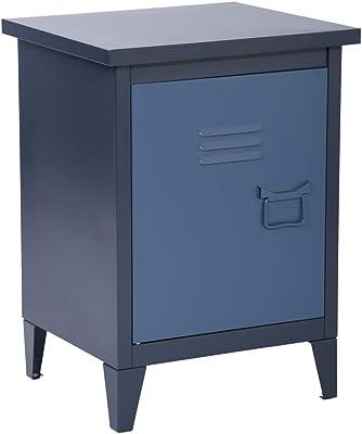 MEUBLE COSY, Caisson de Rangement, Classeur, Basses, Armoire de Bureau avec Deux étagères, Bleu, Métal, 40x35x60,5cm