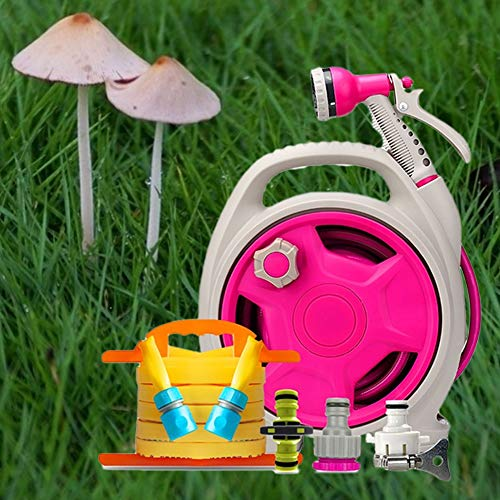 Tuinslang Spuitpistool Waterpistool Cart, Spray douche waterpistool Set slang mondstuk roze mondstukken Spuitpistolen HUYP