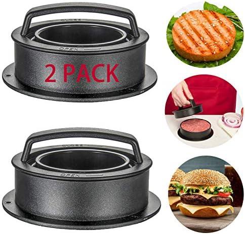 OAMCEG 2 Pack Burger Press Patty Maker 3 in 1 Hamburger Mold Kit to Make Stuffed Burger Sliders product image