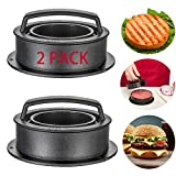3-in-1 Burger Press Kit: Our burger press will help you make different size and thickness of round formed hamburgers stuffed patty. Top small base is for mini burger patty and sliders, detachable indent press help you create a well for filling, and b...