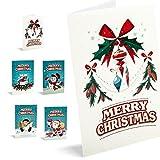 Felicitaciones De Navidad Unicef Merry Christmas. Pack 10 unidades.