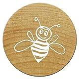 Woodies Mini Stempel Biene Arbeiterin, Holz, 1,5x 1,5x 3cm