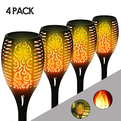 XL LED solare torcia Dancing flame con fiamme-effetto-Solar vie Luce 60led