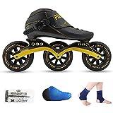Massage-AED Patines Adultos En Linea DE Velocidad Zapatos DE Correr Patines DE Hielo Profesionales para NIÑOS Patines DE Hielo para Hombres Y Mujeres