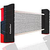 Comesee Retractable Ping Pong Net for Any Table, Table Tennis Nets and Posts Equipment for Replacement (Black)