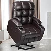 Yitahome Power Lift Heat and Massage PU Recliner Chair
