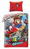 Halantex Juego de cama (140 x 200 cm y 70 x 90 cm), diseño de Super Mario Bros...