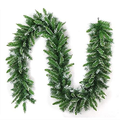 NICETOW 270cm Decorações de guirlandas de Natal, Material de PVC ecologicamente correto durável para lareiras Escadas Decoração de guirlandas de Natal Grinalda de Natal (Cor: C)