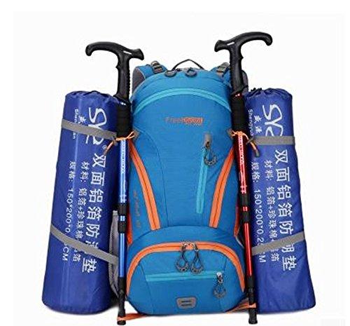 sac à dos d'escalade de plein air grande capacité Bleu