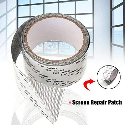litty089 5x200cm venster deur scherm patch reparatie gereedschap gaas glasvezel reparatie tape - zwart Black Zwart