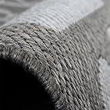 Teppich Modern City Sisal Optik Flachgewebe Designer Teppich in Grau, Grösse:80×150 cm - 4