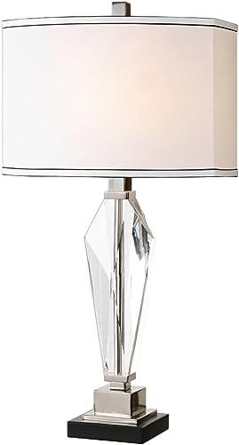lowest Uttermost lowest 26601-1 Altavilla Crystal Table wholesale Lamp, White outlet sale