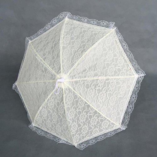 bpblgf H Bruiloftparaplu's Handgemaakte katoenen doek Kant Parasol Zomer Paraplu Voor Bruidsmeisje Bruidsmeisje D, 4, 31 * 53