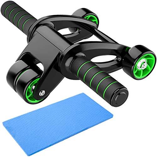 Z&HA AB Roller Laufrad, 3 Räder Bauchmuskeln Rad Fitnessausrüstung Home Gym Workout, Mit Knie-Auflage-Matte Prevent Prolongation Für Anfänger Und Fortgeschrittene