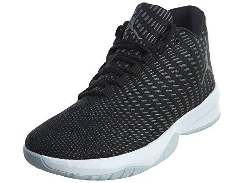 Nike Schuhe Jordan B. Fly Black-Dark Grey-Pure Platinum-White (881444-011) 45 Schwarz