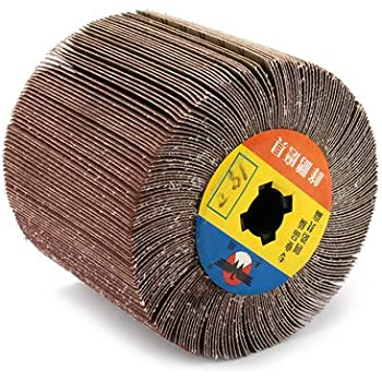 120x100mm Non-woven Flap Wheel Abrasives Polishing Rotary Tools 40-320# Grit