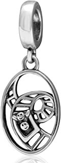 Amusement Park Roller Coaster Charm 925 Sterling Silver Dangle Children Gifts Bead for