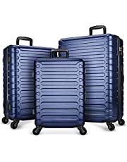SHOWKOO 3 Piece Luggage Sets Expandable ABS Hardshell Hardside Lightweight Durable Spinner Wheels Suitcase with TSA Lock