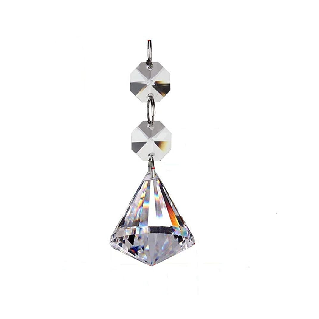 Camybb 10PCS Crystal AAA Chandelier Prisms Pendants Balls Suncatchers Crystal Garland Beads (30mm)