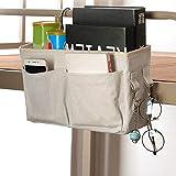 Organizador de cabecera, bolsa de organizador de almacenaje colgante de cabecera para literas y camas de hospital, rieles de la habitación de dormitorio, cuna, carrito de bebé, respaldo de automóvil