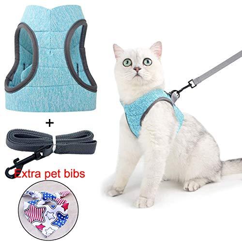 Taotigzu Katzengeschirr, ultraleicht, Set mit Geschirr und Leine für Katzen, verstellbare Leine für Hunde, Laufjacke, weich und atmungsaktiv für Katzen, geeignet für Katzen, Maine Coon, Persan