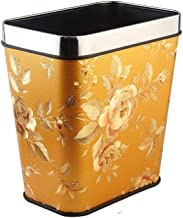Dustbin Uncovered Trash Can Small Plastic Recycling Bin Storage Paper Basket for Hotel Home Kitchen Bathroom, 8L Kitchen,B...