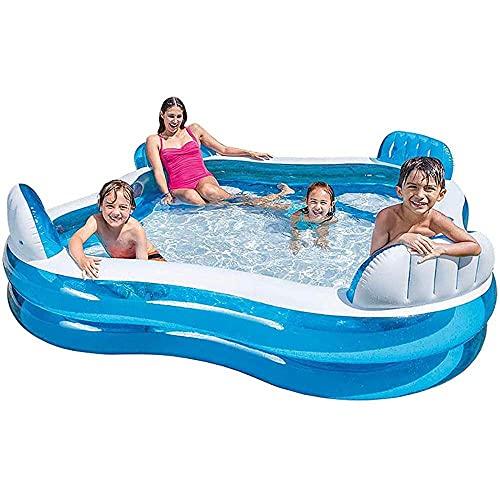 NC ZSCC Opblaasbare zwembaden voor kinderen en volwassenen met zitje voor kinderen, opblaasbaar, zwembad, baby/volwassenen, kinderbadje