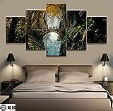 GIRDSS Tableaux Impressions sur Toile - Seigneur des Anneaux Personnages Films Anime - Peinture sur Toile 5 Parties Tableau Pièces Décoration Murale Chambre Décor Maison Cadeau 150X80