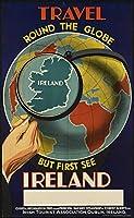 アイルランド、ブリキのかんばん、ヴィンテージの鉄の絵の金属板ノベルティの装飾クラブカフェバー