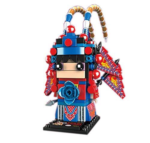 Kunze 3D Modelo de la Asamblea de la muñeca, Chino ópera de Pekín Adornos carácter, pequeños Bloques de construcción (Color : A)