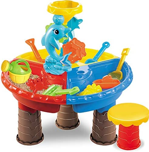 TEMI Beach Sand Toys Max 46% OFF Set Activity Storage with Table 2021new shipping free Water