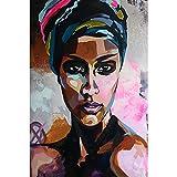 ZHXXFD Pintar Por Numeros Adultos Niños Chica De Piel Negra Africana De Graffiti Cuadros Para Pintar Por Numeros Paisajes Animales Diy Paint By Numbers Kits 40X50CM(A107)